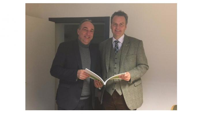 Krings im Gespräch mit AOK-Regionaldirektor Heinz Frohn